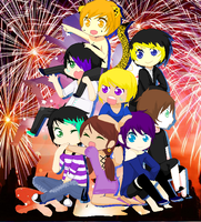 Happy 4th fireworks by akatsuki193