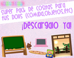 Super pack de cositas para tus dolls by Pastelitha