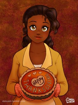 Princess Tiana: Happy Thanksgiving by daisyein