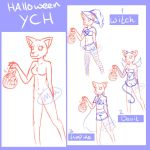 Halloween Furry YCH - CLOSED by MyuOneeChan