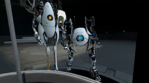 P-Body, GLaDOS and Atlas. by Zeminio