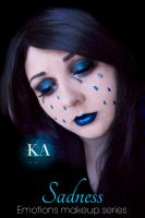 Emotions Makeup Series - Sadness by KatieAlves