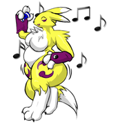 Dancing Fattie Renamon by GrineX