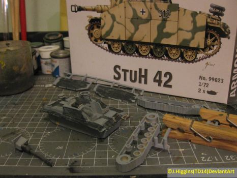 ArmourFast 1/72 Stuh 42 WIP1 by Tank-Dragon2014