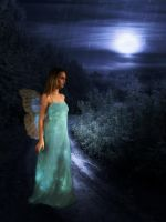 Blue Faerie of Night by bibliomanicgirl