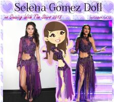 Selena Gomez Doll Come and Get It(DWTS 2013) by RoohEditions