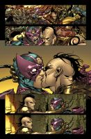 Daken is kissing Bullseye. by MarteGracia