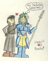 FE7: Legault hearts Heath by sarahakacelebi