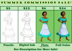 Summer Commission Sale ID by MariaArnt