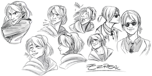 Ez sketches by Konnestra