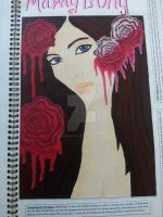 girl with the roses by KalisiMontaro