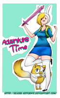 Adventure Time with fiona and cake by Kurumi-In-Wonderland