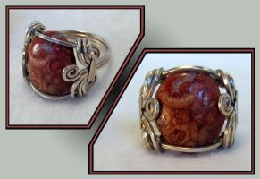 Silver Mystery Stone Ring by MajorTommy