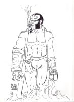 Hellboy - Job Well Done by Tharivious