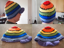 Beanie with Brim by Kelly-Crochet