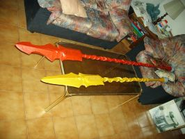 Fate Zero Lancer's Spears by MirrorDancer
