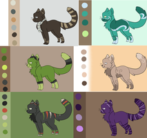 Cat Set One - Lowered Price by Leepyr