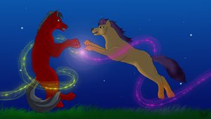 Two spirits running free by IceColdWulf