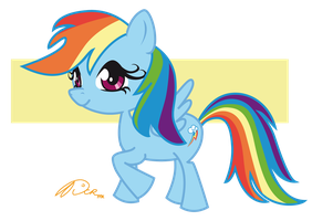 Rainbow Dash Kawaii by DCRmx