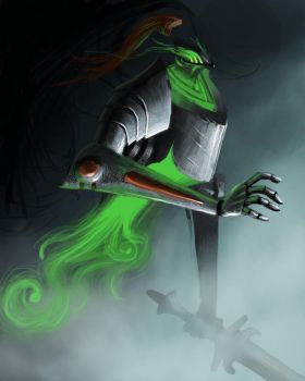 Lars the ghost knight by pencilcasserole