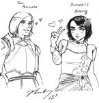 Princess Barry and Ser Peanuts by waterpieces