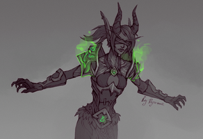 WoW: Isadorus sketch by ryumo