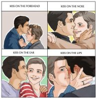 Klaine - Cute Kiss Meme by yu-oka