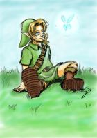 DAD: Day 2- Child Link and Navi by Rabbit-of-the-Moon