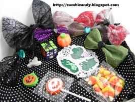 Halloween bow grab bag by zambicandy