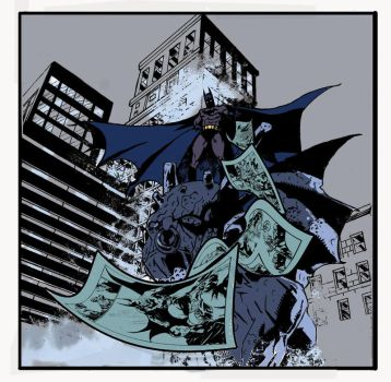 BATMAN IN GOTHAN COLOR by Velmitrax