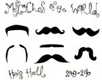 Mustaches of the World by Escoa
