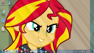 Equestria Girls in November: Sunset Shimmer by SuperShadiw1010
