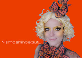 Effie Trinket Butterfly Makeup Costume the hun by smashinbeauty
