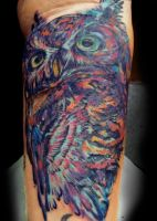 Owl by SerenityInkMilwaukee