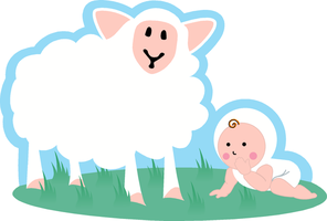 sheep and baby by iSuat
