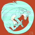 Arctic Tribal Wolf by ZacharyWolf