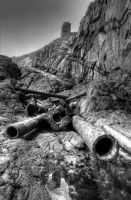 Cannons at Radar Wall HDR by VictorShado