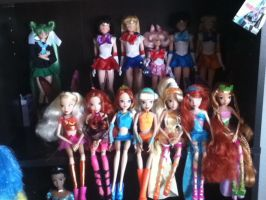 Sailor Moon and Winx Club doll collection by iTiffanyBlue