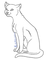 Cat Lineart 01 by Aira90