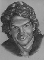 Patrick Swayze by WitchiArt