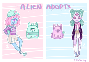 BTS Pastel Aliens set price (CLOSED) by mellowshy