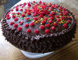Chocolate Fudge Cake by LullabyAddicted