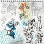 A bunch of undertale drawings 2 by KnockPainter
