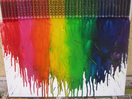 melted crayons by JamieSketch101