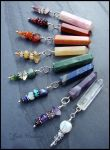 Set of Chakra Gemstone Crystal Points by andromeda