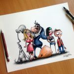 American Dad Creepy Drawing by AtomiccircuS