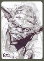 Sketch of Yoda by Shadowgrail