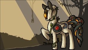 Glados pony by GasMaskMonster