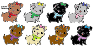 Free Puppy Adoptables OPEN (Watchers only) by turtle9334