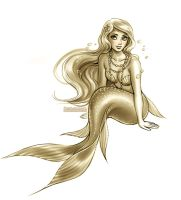 Golden Mermaid by daekazu